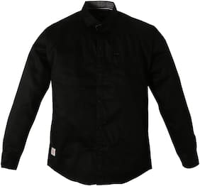 TOONYPORT Boy Cotton blend Solid Shirt Black