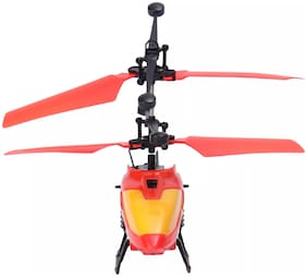 Toy Rush Kids 2 in 1 flying  Mini Remote  Helicopter with Gyro Red