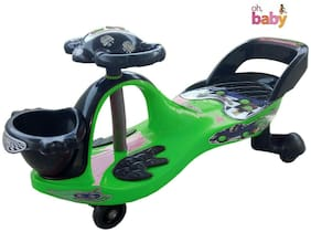Toy Zone Green And Black Swing Eco Panda Magic Car Ride On