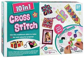 Toy4Pick 10 in 1 Cross Stitch art and Craft kit for Girls