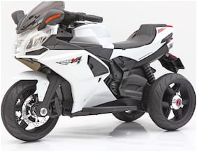 Toyhouse 3-Wheel Special edition RSV4 Bike with Rechargeable battery operated Ride-on for kids(2 to 6yrs);White