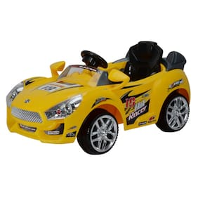 toyhouse hot racer car 6v rechargeable battery operated ride on yellow