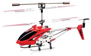 Toyhouse Metal Helicopter 3 Channel Infrared Remote Control With Gyroscope N Led Lights For Indoor Red