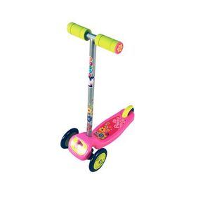 Toyhouse Lean to Steer Three wheel Skate scooter with Removalbe Handlebar, Swiss design (Pink)