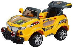 Toyhouse Thunder Jeep 6V Rechargeable Battery Operated Ride on SUV Yellow