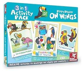 Toykraft Toddler Craft - On Wings - 3-In1 Art & Craft | Toykraft