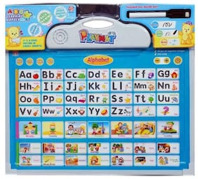 Shanaya 2 in 1 Playmat Battery Operated Kids Educational Learning Tablet With Letter Spelling, Words and Rewritable White-Board  (Multicolor)