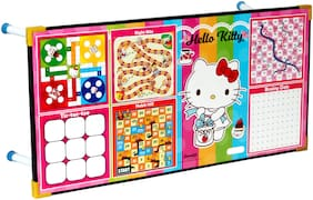 Toysons Hallo Catty Printed Writing And Game Multipurpose Table For Kids