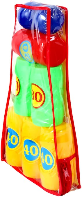 TOYSONS  Hitcans knock down tower hit ball toy game for boys and girls set of 6+2 Boys Assorted