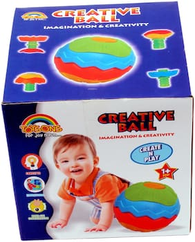 TOYSONS Multicolor Creative Ball for Kids Imagination and Creativity(9.5 Diameter )