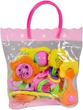 Toysons Rattle Set Fancy Bag 8 Pcs