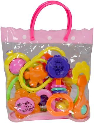 Toysons Rattle Set Fancy Bag 7 Pcs