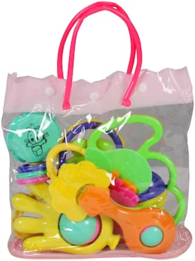 Toysons Rattle Set Fancy Bag 6 Pcs