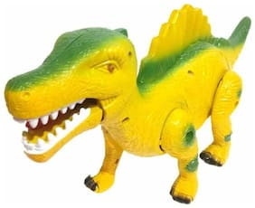 Toyvala Battery Operated Walking, Moving Dinosaur with Flashing Lights and Realistic Dinosaur-Sounds (Multicolor)