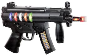 Toyvala Black Wepon Toy Gun With Different Light and Music