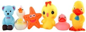 Toyvala Chuchu Toy For Toddlers Different Animals (Set Of 6)