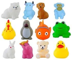 Toyvala Cute Animal Swimming Water Toy for Small Baby (Set Of 12)