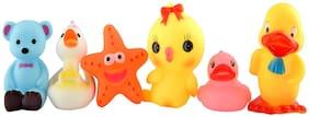 Toyvala Cute Baby Bath Toy Set of 6, For Boys & Girls (Multicolor) Bath Toy