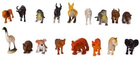 Toyvala Forest Animal/ Wild Animal 20 Piece (Multicolor)