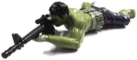 Toyvala Green Hulk, Crawls with Gun, With Real Shooting Sound And Light