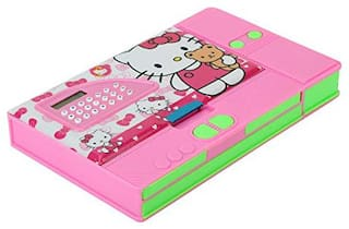 Toyvala Hello Kitty Gadget Pencil Box Best Quality with Calculator--Jumbo Pencil Box-Kids Multi Purpose