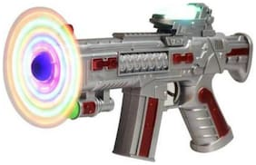Toyvala LED Matrix Space Gun Toy Rotating Blades