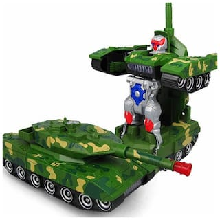 Toyvala Robot Army Combat Tank With Light And Musical Sound Toy For Kids Multicolor