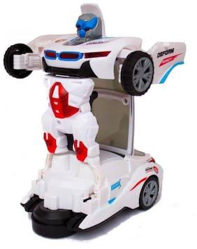 Toyvala Robot Deform Super Speed Car With 3D Special Light