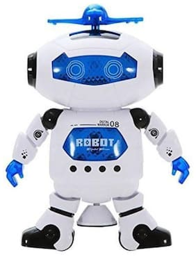 Toyvala Singing Dancing Naughty Robot with Lights (Multicolor)  (Blue, White)