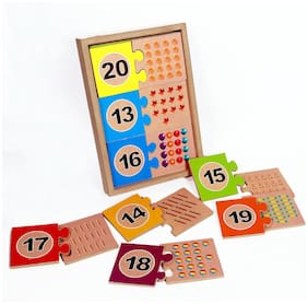 Toyvala Wooden Board 1to 20 In Box With Printed Images