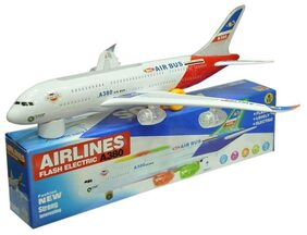 Toz Aeroplane Bump And Go With Sound Led Light Gift Toy
