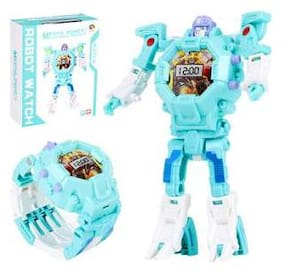 Transformers Robot Toy Convert to Digital Watch for Kids - Multicolor