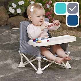 Travel Booster Eating Seat with Tray Folding Portable High Chair For Baby