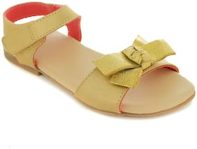 Trends & Trades Gold Girls Slippers
