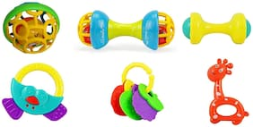 Trendy Dukaan BPA Free Non Toxic 6 Rattle Toys for Babies Infants and Toddlers