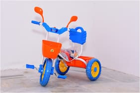 FUN RUN Tricycle for Kids, 2 yrs to 3,4,5 Yrs, upto 25Kg, Front & Rear Baskets, (Assorted)