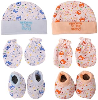 d3b7e293e18 Buy Triple B Baby Girl Cotton Mitten - Multi Online at Low Prices in ...