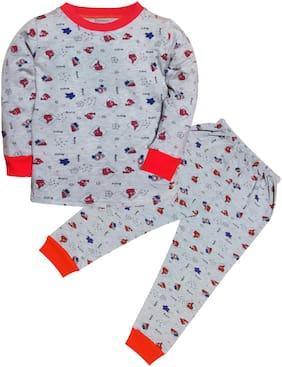 Triviso Boys Sleepwear Night suit & T-shirt Pajama Set (Pack of 1)