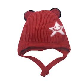 TRUE INDIAN Boy Wool Cap - Red