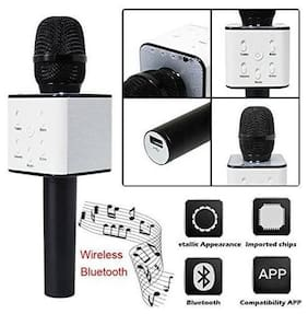 TSV Handheld Wireless Microphone Bluetooth Mic For All IOS/Android Smartphones Black