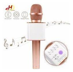 TSV Handheld Wireless Microphone Bluetooth Mic For All IOS/Android Smartphones Rose Gold