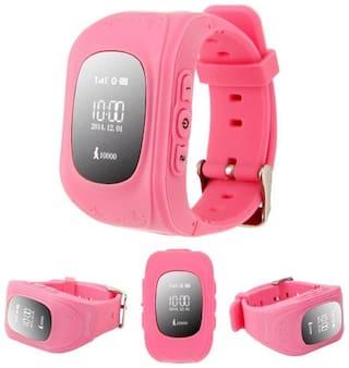 TSV Q50 Kids GPS Tracker Smartwatch SOS Call Locator Anti-Lost Finder Wristwatch Tracker for Children Far Away from Danger Pink
