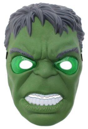 Tuelip Avengers Age Of Ultron Super Hero Hulk Camouflage Face Mask Cosplay For Party With Led Light