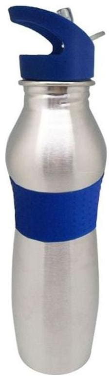 Tuelip Combo of Two Blue Stainless Steel Vacuum Insulated Wide Mouth Water Bottle with Straw Cap -750ml