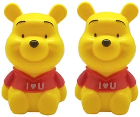 Tuelip Combo Of Two Pooh Cartoon Character Piggy Bank