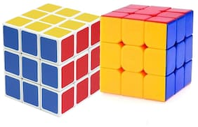 Tuelip Combo Of Two Multicolor Rubik's Cube For Kids