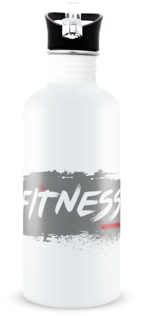 "Tuelip ""Fitness"" Aluminium Printed Water Bottle For School going kids Girl & Boys ,Gym,College,cycling 750 ml"