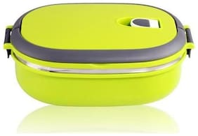 Tuelip Homio Oval Single Layer Lunch Box 900ml Inner Stainless Steel - Green