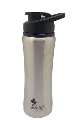Tuelip Stainless Steel Water Bottle For College,School,Gym,Sports Water Bottle 700 ML- Silver