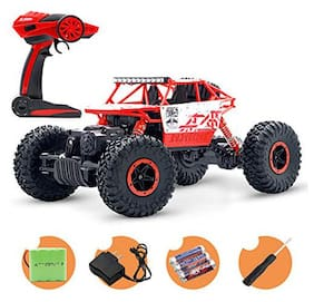 TULSI ENTERPRISE 1:18 Rechargeable Rock Crawler 4WD 2.4 Ghz 4x4 Rally Car RC Monster Truck Kids Play Toys